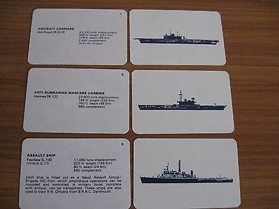 BRITISH ROYAL NAVY SHIP CARDS 52 IDENTIFICATION CARDS FROM 1980s MINT CONDITION