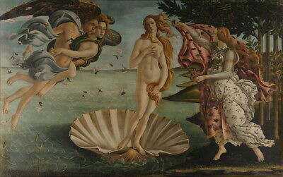 Sandro Botticelli The Birth of Venus Giclee Canvas Print Paintings Poster
