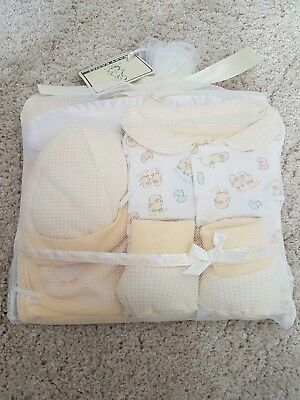Beautiful New Baby Gift Set in Lemon & White for Boy or Girl 0-3 months 5 Items