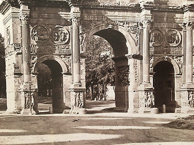 Uraltes großes Albumin Foto 1890 Antikes ROM Arco di CostantinoVia Trionfale TOP