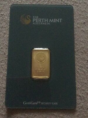 Pure Investment Grade Gold. Perth Mint 5 gram certified