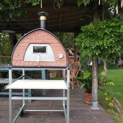Forno a legna Pizza Party Four a pizza Horno de leña Pizzaofen Holzbackofen70x70