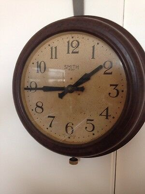 Vintage Smiths 8 Day Bakelite Wind Up Wall Clock Fully Working