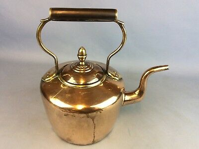 Lovely Original Vintage Copper & Brass Kettle Ship Worldwide