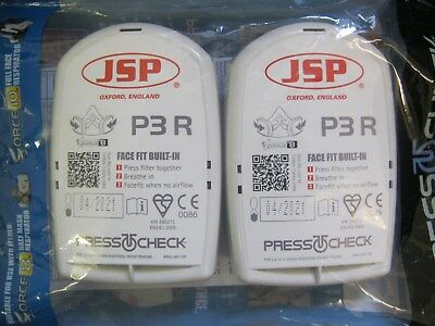 JSP Force™ 8 Press To Check P3 Dust Filters - Set of 2