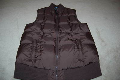 OLD NAVY MATERNITY brown down filled winter vest Medium EUC!