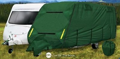 Crusader Premium 4 Ply Caravan Cover 19-21ft H/D Breathable + Free Hitch Cover