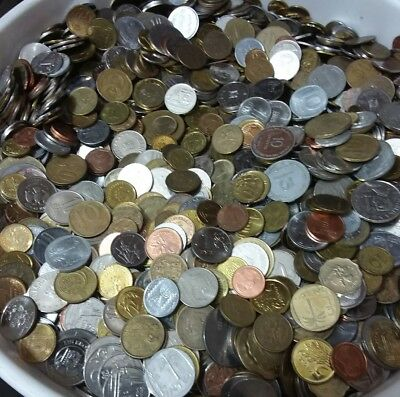 Lot 4 Pound / 4 Libra / 1816 Grams Of Mixed Foreign World Coins Free Shipping
