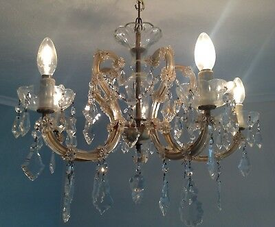 """Large Crystal  vintage chandelier 23"""" across (There are 3 available in total)"""