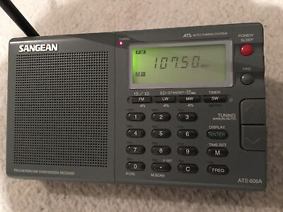Sangean Compact Digital All-Band World Receiver with case and manual
