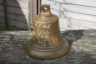 Antique Bronze Bell Marked Gvr