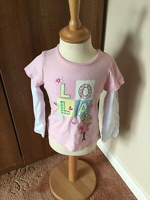 Girls Pink Long Sleeved Charlie and Lola Top New Without Tags