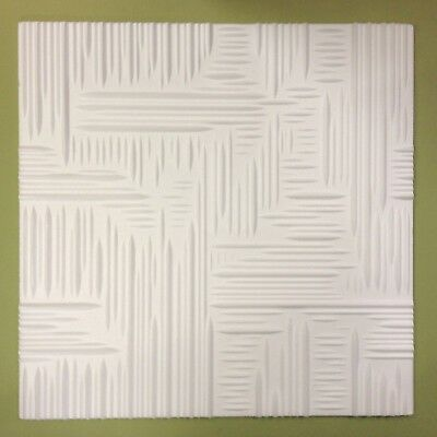Polystyrene Ceiling Tiles  - 50cm x 50cm  - 10mm Thickness  -  'NOVA' Design