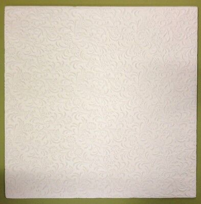 Polystyrene Ceiling Tiles  - 50cm x 50cm  - 10mm Thickness  -  'FLORA' Design