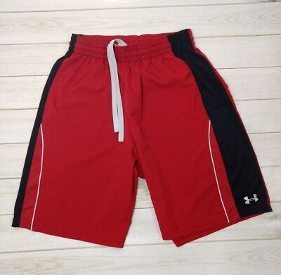 under armour shorts XL basketball baseball football sport gym fitness men's red