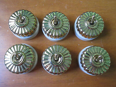 Set of 6 Vintage  Jelly Mould Light Switches .