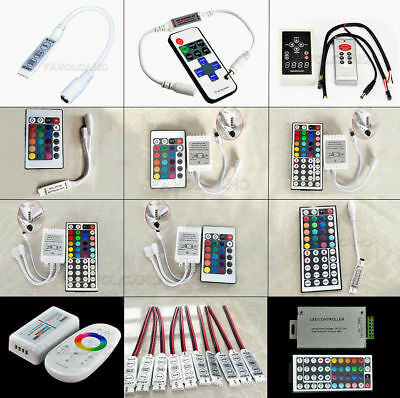 24 44 Key Music IR Remote Double Lines Controller For 3528 5050 RGB Led Strips