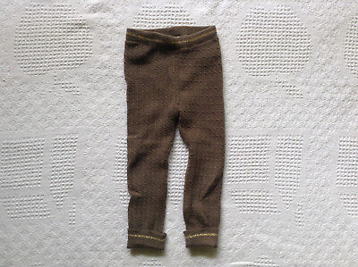 Zara Sweater Knit leggings 2-3T Brown Toddler Girl's