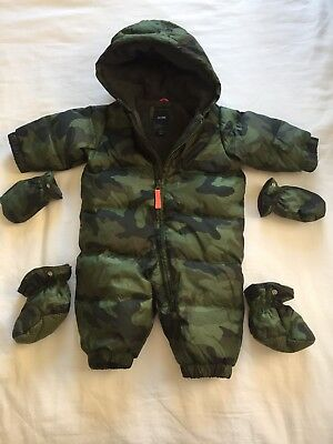 Gap Baby Boy Feather Down Quilted Snowsuit Pramsuit 0-6 Months (more 3-6 Months)