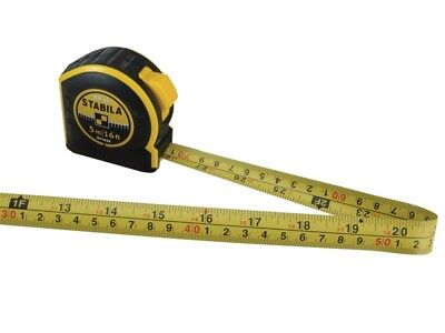 STABILA PRO BM40 5m/16ft Metric & Imperial Pocket Tape Measure With Belt Clip