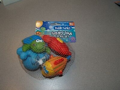 Puddle Winks Squirt Toys Playset - 4 Pack - Bath Toys