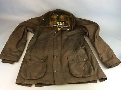 Barbour Bedale A103 Jacket Brown Size C36 / 91cm Ship Worldwide