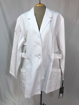 Heavy Cotton Belted Lab Coat Button Pockets Science Medical Costume Doctor 2XL