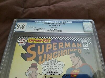 Superman Unchained 3 (Cgc 9.8) Bolland Cover Variant No Reserve Bidding $5.00!!!