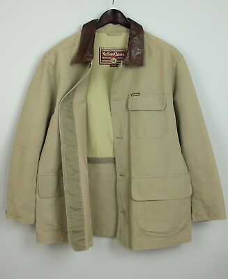 MARLBORO CLASSICS Men's Cotton Shell Jacket With Cow Leather Collar [SIZE XL]