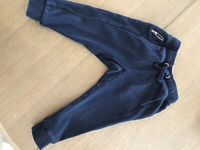 ZARA Toddler Boy's Navy Blue Jogging Trousers Size 4 (runs small)