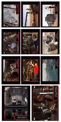 TFA BEHIND THE SCENES RED COMPLETE SET OF 11 Topps Star Wars Card Trader Digital