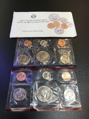 1989 United States Mint Uncirculated Coin Set 12 coins