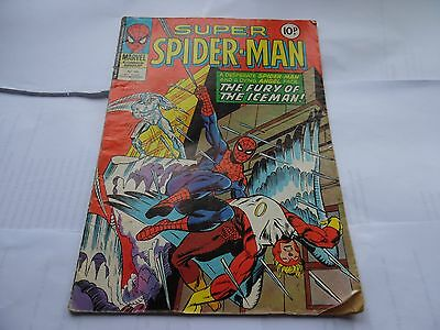 Super Spider-man No 303 29 Nov 1978 Vintage Marvel Comic Book Fury Of The Iceman
