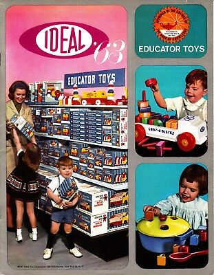 IDEAL TOYS 1963 Trade Catalog for EDUCATOR TOYS line, VG Condition