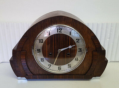 Vintage H.A.C. Make 8 Day Mantle Clock with Strike.
