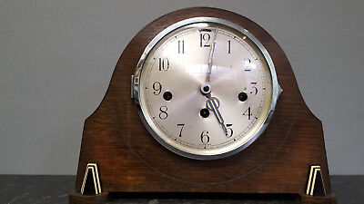 Vintage Edwardian Style 8 Day Westminster Chiming Mantle Clock