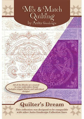 Anita Goodesign Quilter's Dream  Embroidery Machine Design CD NEW 154AGHD