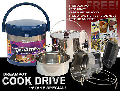 DreamPot Thermal Cooker 6L Camping, Home, Caravan, Kitchen, Travel, Slow Cooker