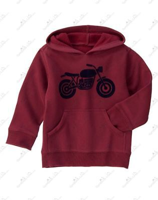 Gymboree Boy's Burgandy Motorcycle Sweater NWT  2t
