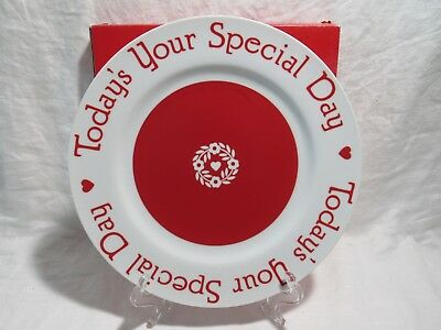 "The Special Day Plate. ""Today's Your Special Day"" w/ Original Box Current 1986"
