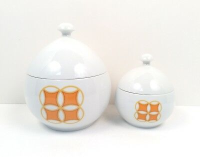 """Ben Seibel Mikasa Pivotal """"Tangents"""" Small/Large Lidded Containers"""