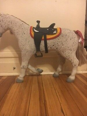 American Girl Doll Accessory Saige's Horse Picasso w/saddle Very Good