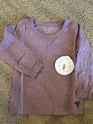 Burts Bees Baby Long Sleeved Shirt Purple Girls New NWT sz 2T 24 Months
