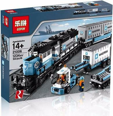 Maersk Locomotive Train Truck LEGO Compatible 1234Pcs Set 10219 Container