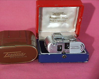 Tessina Automatic 35mm Camera With Case, Wrist Strap And Box