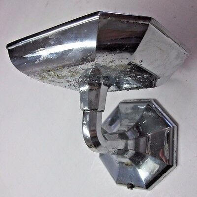 Antique vintage 8 sided octagon chrome classic retro soap dish wall mount holder