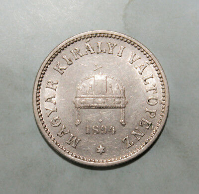 Hungary 10 Filler 1894 Almost Uncirculated Coin - Franz Josef I