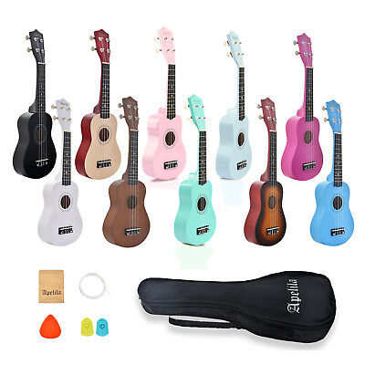 Apelila Soprano Ukulele 21 Acoustic Hawaii Guitar Folk String Music Instrument