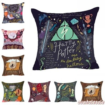 Harry Potter Sofa Pillow Case Back Cushion Cover Cotton Linen Home Decor 18""