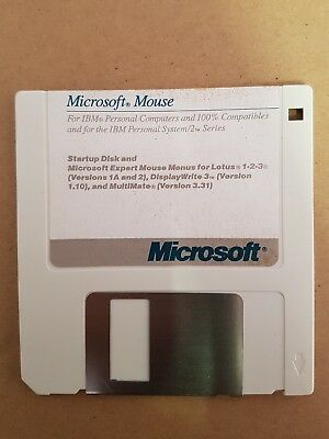 Microsoft Mouse Startup Floppy Disk